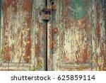 Old Wooden Door With Leaving...