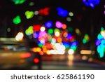 abstract circular bokeh... | Shutterstock . vector #625861190