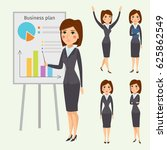 vector business woman character ... | Shutterstock .eps vector #625862549