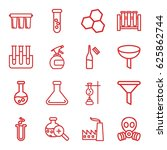 chemical icons set. set of 16... | Shutterstock .eps vector #625862744