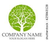 green tree logo   Shutterstock .eps vector #625863128
