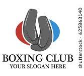 boxing club logo   Shutterstock .eps vector #625863140