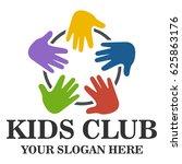 kids club logo | Shutterstock .eps vector #625863176
