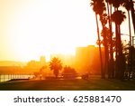 sunset over the seafront of... | Shutterstock . vector #625881470