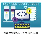 back end development. vector... | Shutterstock .eps vector #625884368