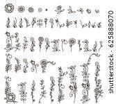 flower graphic design. vector... | Shutterstock .eps vector #625888070