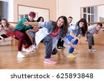 group of young hip hop dancers... | Shutterstock . vector #625893848