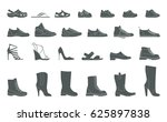 stylish and fashionable shoes ... | Shutterstock .eps vector #625897838