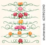decorative flourish borders and ... | Shutterstock .eps vector #625901540