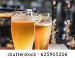 beer glasses with beer on the... | Shutterstock . vector #625905206