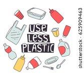 zero waste design. use less... | Shutterstock .eps vector #625909463