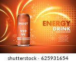 energy drink on sparkly and... | Shutterstock .eps vector #625931654