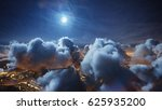 flying over the deep night... | Shutterstock . vector #625935200