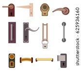 stylish modern door handles... | Shutterstock .eps vector #625936160
