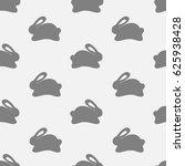 seamless bunny pattern on white ...   Shutterstock .eps vector #625938428
