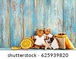 still life of gingerbread ... | Shutterstock . vector #625939820