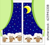 cute lambs look through the... | Shutterstock . vector #625941338