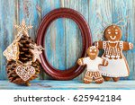 still life of gingerbread ... | Shutterstock . vector #625942184