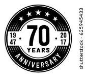 70 years anniversary logo... | Shutterstock .eps vector #625945433