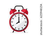 red alarm clock in flat style... | Shutterstock .eps vector #625948154