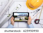 a male architect using digital... | Shutterstock . vector #625950950