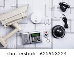 high angle view of security... | Shutterstock . vector #625953224