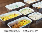 tasty meals in take away... | Shutterstock . vector #625954349