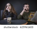 marriage problems  young couple ... | Shutterstock . vector #625961603