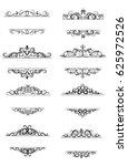 vintage vector swirl frame set   Shutterstock .eps vector #625972526
