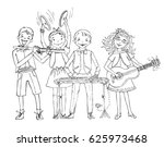 group of kids  include the boy...   Shutterstock .eps vector #625973468