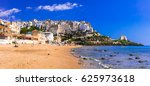 charming sperlonga town with... | Shutterstock . vector #625973618