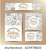 set of vector cards with bakery ... | Shutterstock .eps vector #625978820