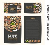 set of vector cards with nuts...   Shutterstock .eps vector #625978826