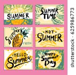 set of hand drawn summer... | Shutterstock .eps vector #625986773