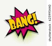 lettering bang. comics book... | Shutterstock .eps vector #625995440