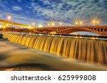 nice night at taichung city ... | Shutterstock . vector #625999808