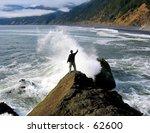person standing in ocean spray... | Shutterstock . vector #62600