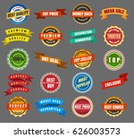 round labels and stickers ... | Shutterstock .eps vector #626003573