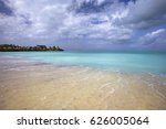 paradise like beach in antigua... | Shutterstock . vector #626005064