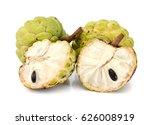 ripe sugar apple fruit isolated ... | Shutterstock . vector #626008919