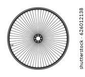 bicycle wheel symbol vector.... | Shutterstock .eps vector #626012138