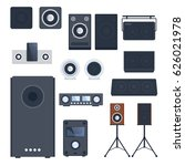 home sound system stereo flat...   Shutterstock .eps vector #626021978