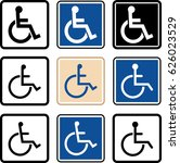 access icon  disabled handicap... | Shutterstock . vector #626023529