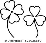 clover with four and three... | Shutterstock . vector #626026850