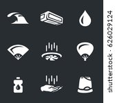 vector set of cooling icons.