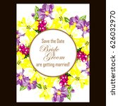 romantic invitation. wedding ... | Shutterstock . vector #626032970