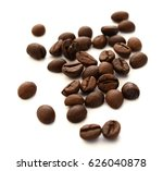 coffee beans on white background | Shutterstock . vector #626040878