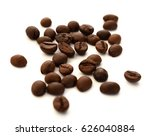 coffee bean pile isolated on... | Shutterstock . vector #626040884