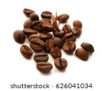 roasted coffee beans isolated... | Shutterstock . vector #626041034