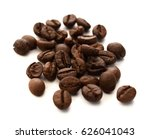 roasted coffee beans isolated... | Shutterstock . vector #626041043